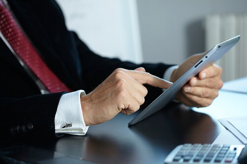 attorney using ipad very responsive attorney support image