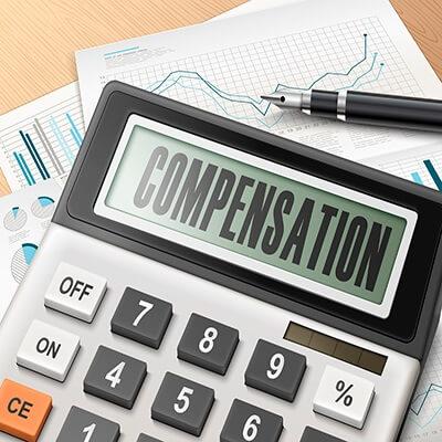 compensation on a calculator